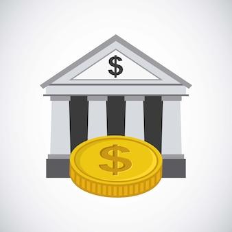 Design de banco e dinheiro