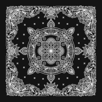 Design de bandana, padrão de ornamento de bandana.