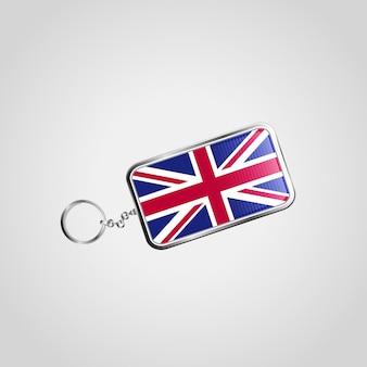 Design de bandeira britânica com vetor de chaveiro