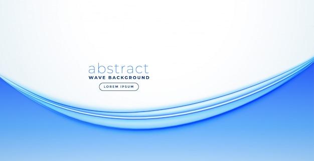 Design de bandeira de onda azul abstrato