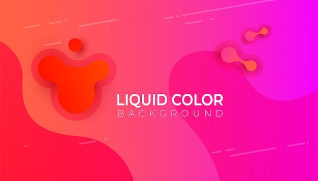 Design de bandeira gráfica moderna abstrata colorida para celular