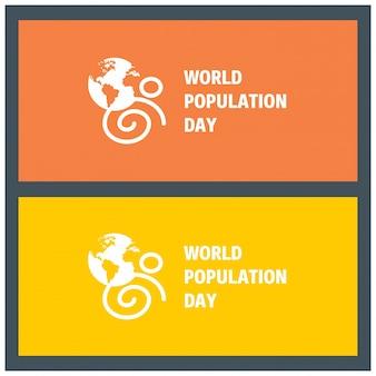 Design de bandeira para o dia da população mundial