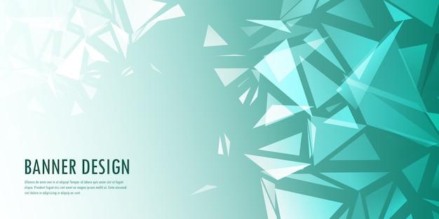 Design de banner abstrato baixo poli