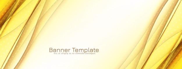 Design de banner abstrato onda amarela brilhante