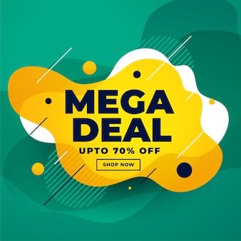Design de banner com desconto de venda de mega oferta