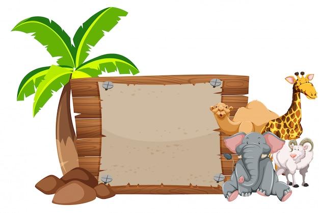 Design de banner com muitos animais