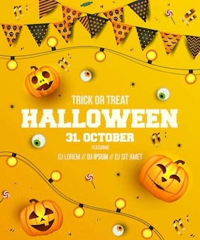Design de banner com tema de halloween