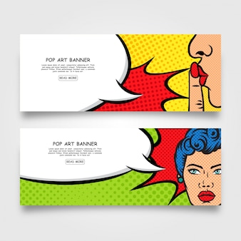 Design de banner comic