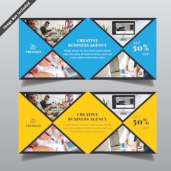 Design de banner da web de negócios modernos