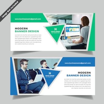 Design de banner da web de negócios
