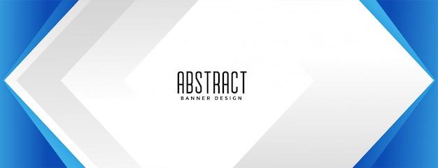 Design de banner de apresentação de estilo geométrico azul de negócios