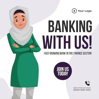 Design de banner de banco conosco