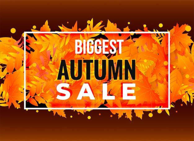Design de banner de cartaz de venda outono
