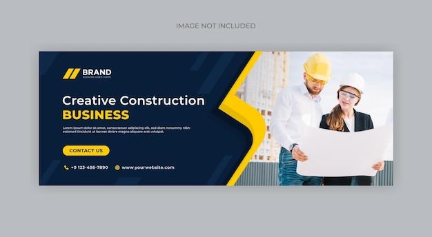 Design de banner de construção criativa