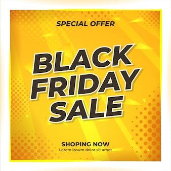 Design de banner de conteúdo de mídia social para evento de venda black friday