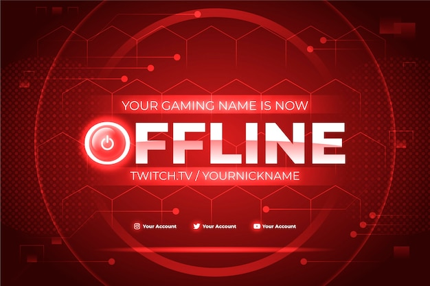 Design de banner de contração offline