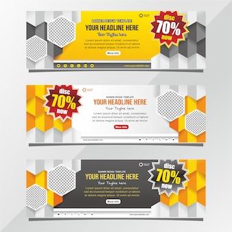 Design de banner de desconto de venda