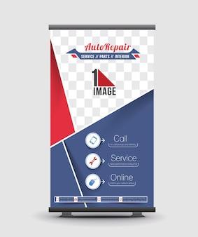 Design de banner de enrolamento de centro automotivo