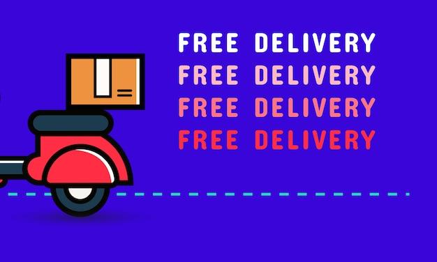 Design de banner de entrega gratuita