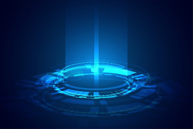 Design de banner de feixe de luz brilhante de tecnologia futurista