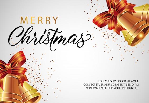 Design de banner de feliz natal com jingles