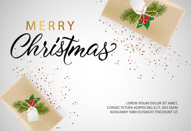 Design de banner de feliz natal