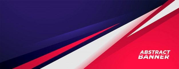 Design de banner de fundo de estilo esportes nas cores vermelhos e roxos