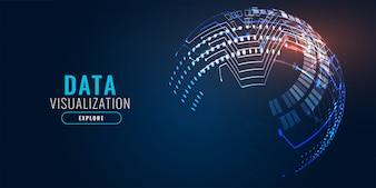 Design de banner de fundo de tecnologia digital
