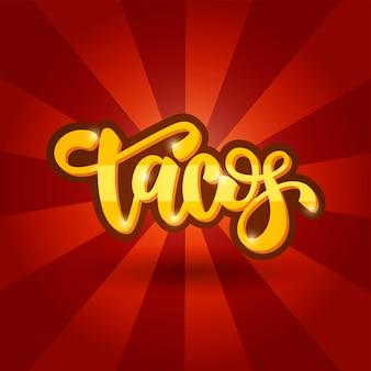 Design de banner de letras tacos
