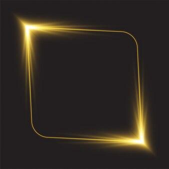 Design de banner de linha brilhante