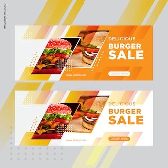 Design de banner de mídia social burger