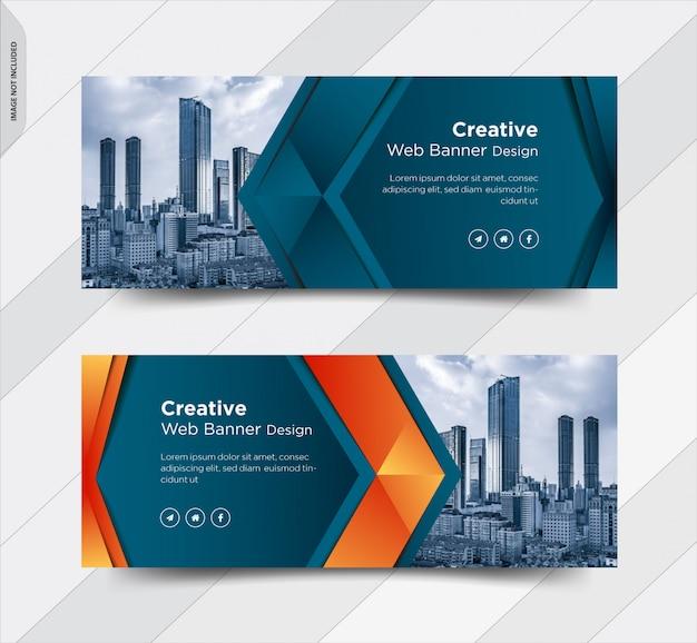 Design de banner de mídia social de capa de facebook de negócios