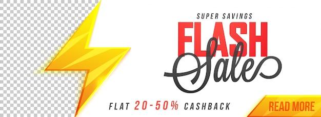 Design de banner de mídia social do flash sale.