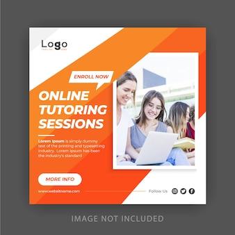 Design de banner de mídia social educacional