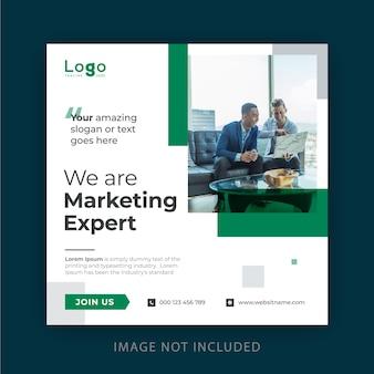 Design de banner de mídia social empresarial