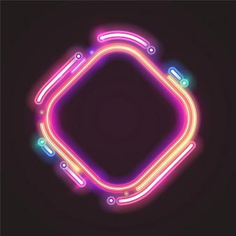 Design de banner de néon na moda.