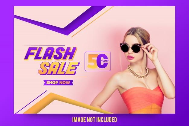 Design de banner de oferta de venda instantânea abstrata elegante