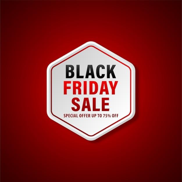 Design de banner de oferta especial de venda de sexta-feira negra