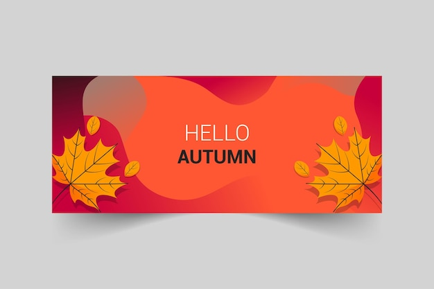 Design de banner de página de fãs do facebook com tema de outono