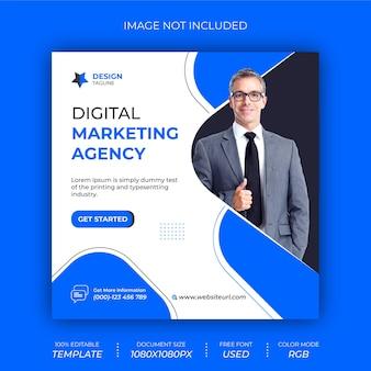 Design de banner de postagem de mídia social para agência de marketing digital