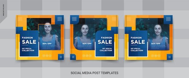 Design de banner de postagem de mídia social