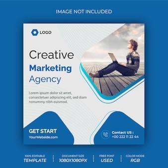 Design de banner de postagem social de agência de negócios criativos