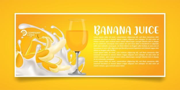 Design de banner de produto de suco de banana