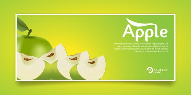 Design de banner de produto de suco de maçã