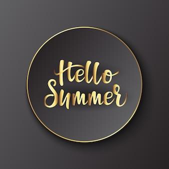 Design de banner de propaganda olá verão