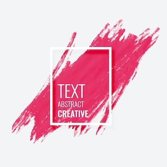 Design de banner de quadro grunge aquarela pincelada rosa