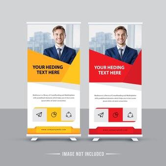 Design de banner de roll-up de negócios