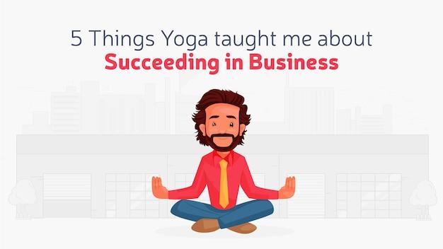 Design de banner de sucesso no modelo de negócios