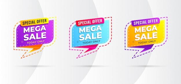 Design de banner de venda de estilo moderno