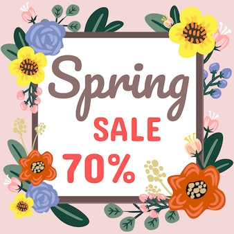 Design de banner de venda de primavera